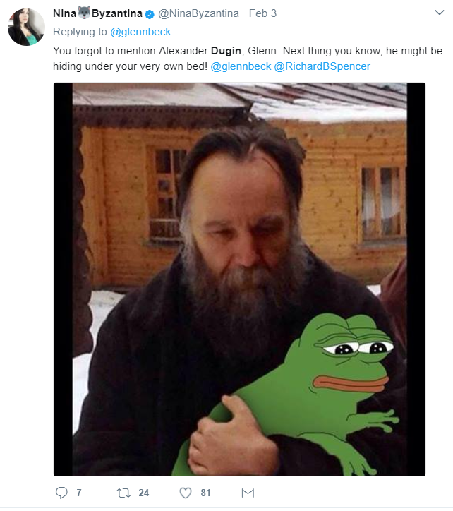 dugin pepe tweet