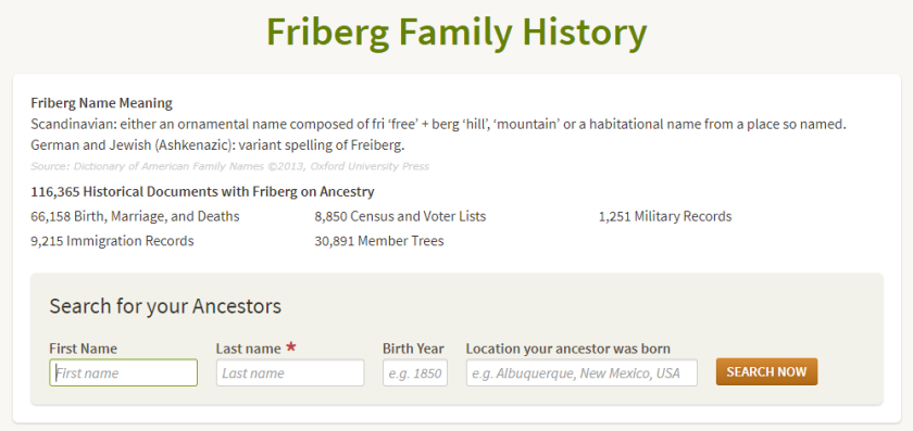 ancestry name