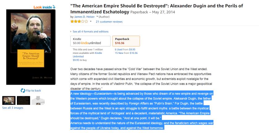 dugin america destroy